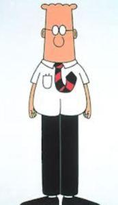 dilbert standing